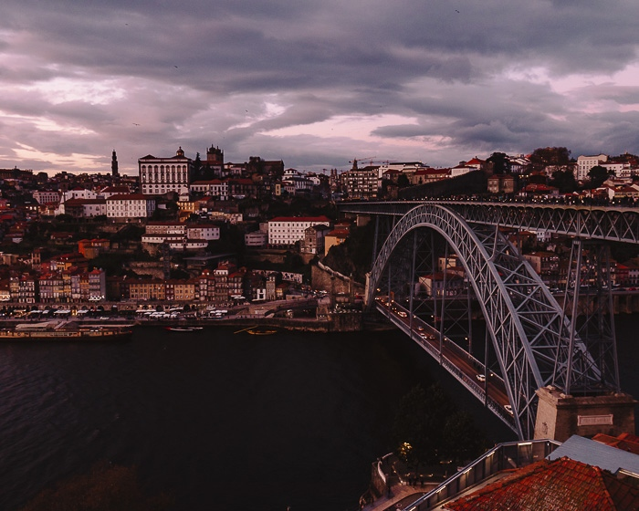 Porto weekend itinerary Sunset over Porto from Teleferico de Gaia by Dancing the Earth