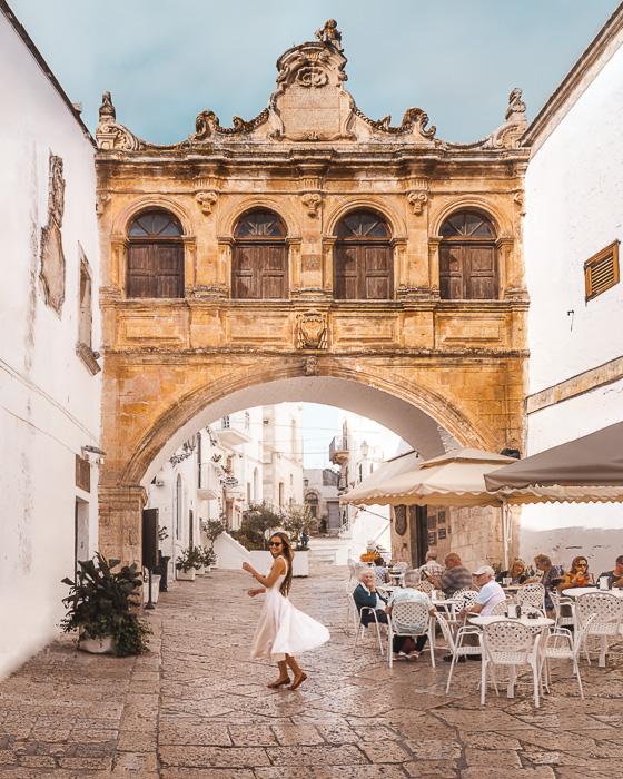 Main square in Ostuni, Puglia travel guide by Dancing the Earth