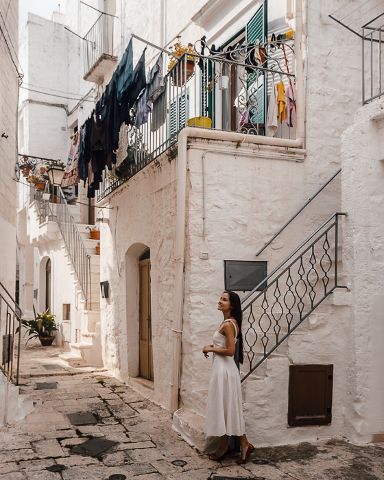 Clothes drying in Cisternino, Puglia travel guide by Dancing the Earth
