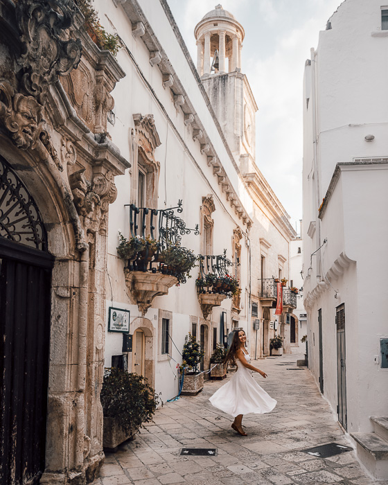 Twirling in Locorotondo, Puglia travel guide by Dancing the Earth