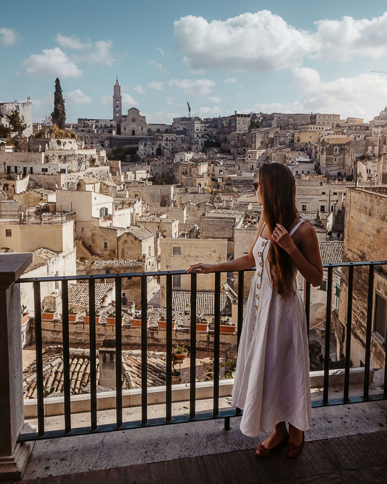 In the Belvedere in Matera, Puglia travel guide by Dancing the Earth