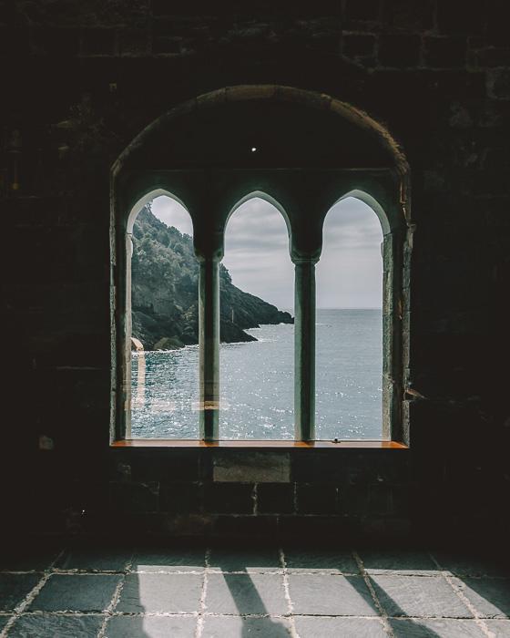 windows in the abbey of San Fruttuoso