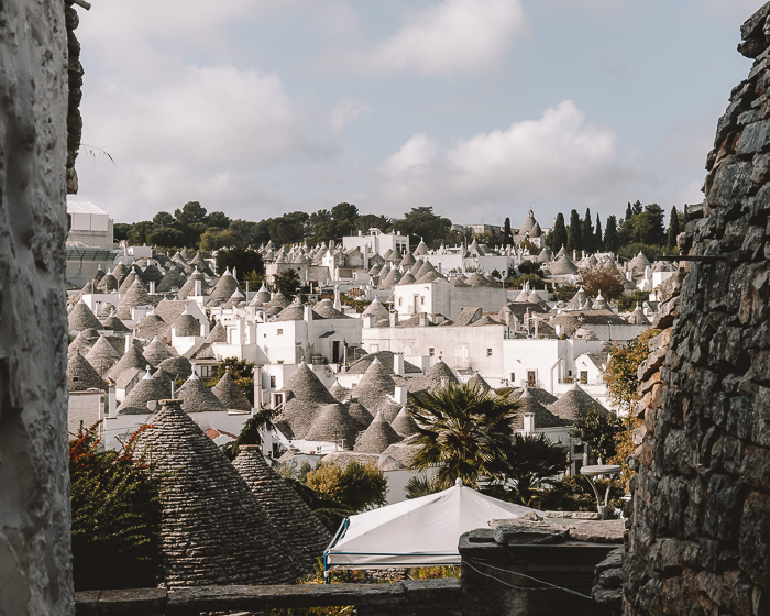 Panorama over the trulli of Alberobello, Puglia travel guide by Dancing the Earth