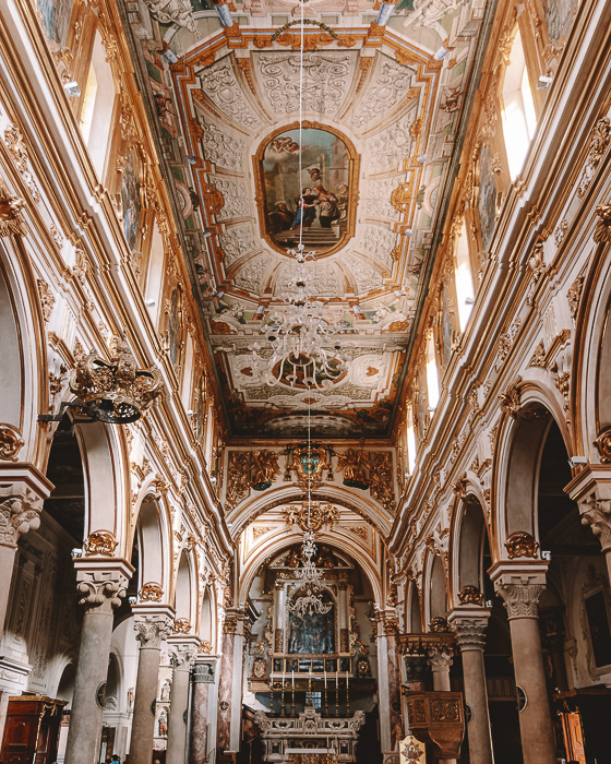 Inside the Cathedral of Matera, Puglia travel guide by Dancing the Earth