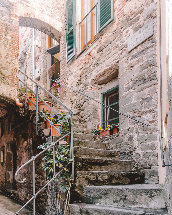 Staircases in Corniglia, Liguria and Cinque Terre travel guide by Dancing the Earth
