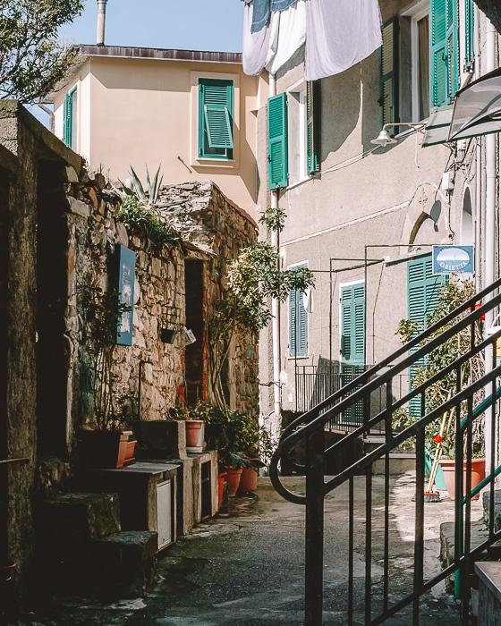 Street in Corniglia, Liguria and Cinque Terre travel guide by Dancing the Earth