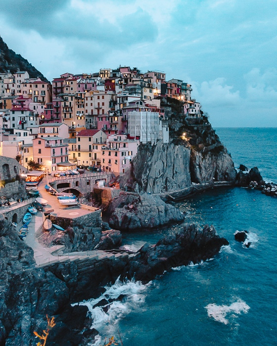 Manarola by night, Liguria and Cinque Terre travel guide by Dancing the Earth