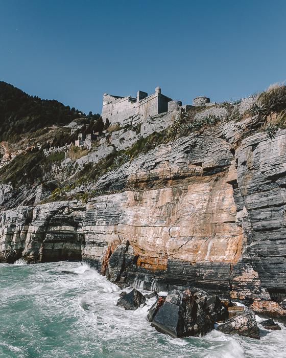 Castello Doria from the sea, Porto Venere