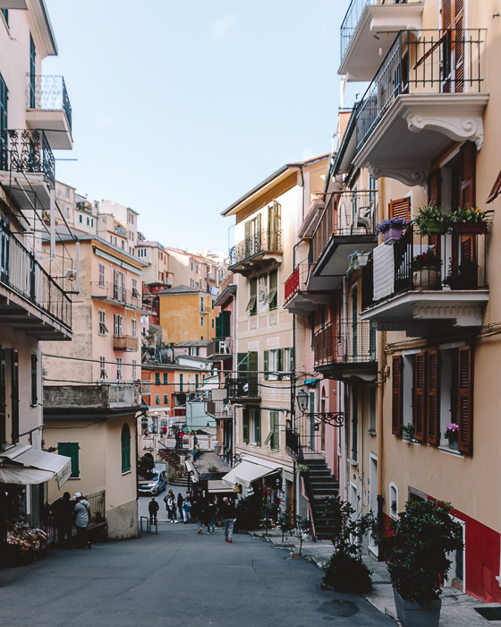 Street of Riomaggiore, Liguria and Cinque Terre travel guide by Dancing the Earth