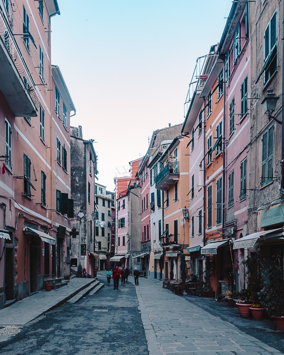 Street of Vernazza, Liguria and Cinque Terre travel guide by Dancing the Earth