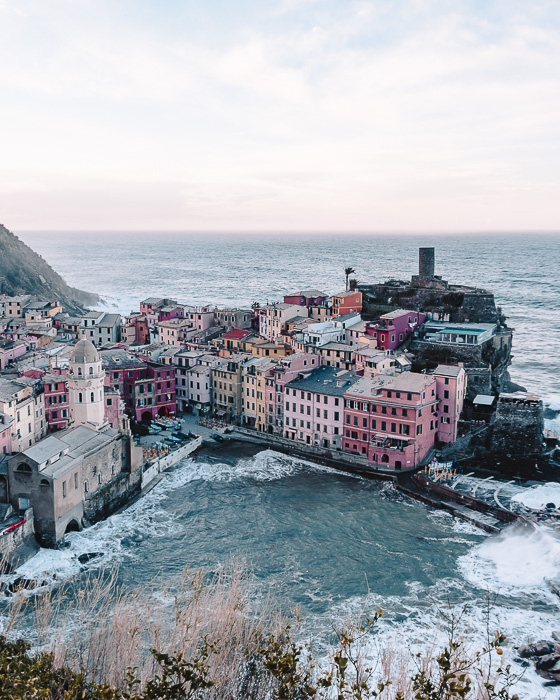 sunrise in Vernazza, Liguria and Cinque Terre travel guide by Dancing the Earth