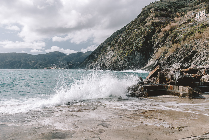 waves in Vernazza