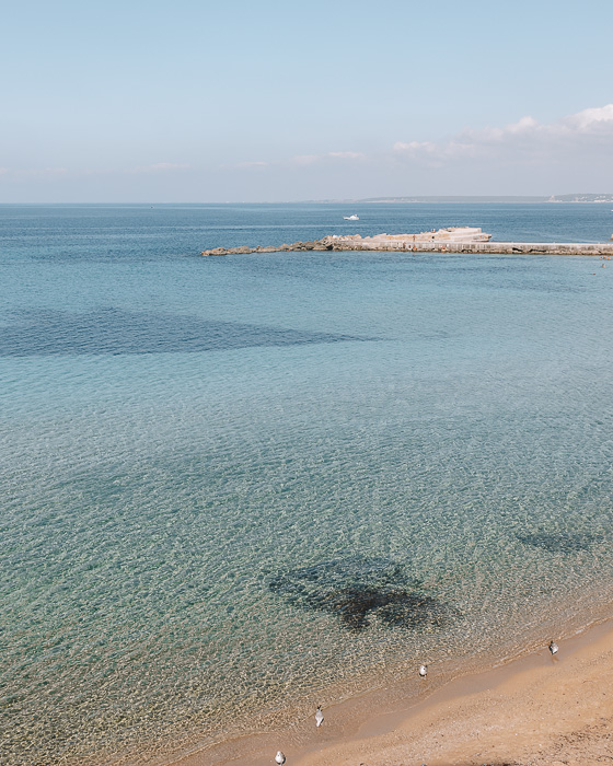 Crystal-clear water of Gallipoli, Puglia travel guide by Dancing the Earth