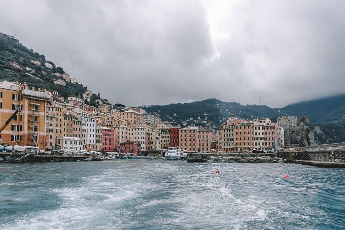 Panorama of Camogli from the sea