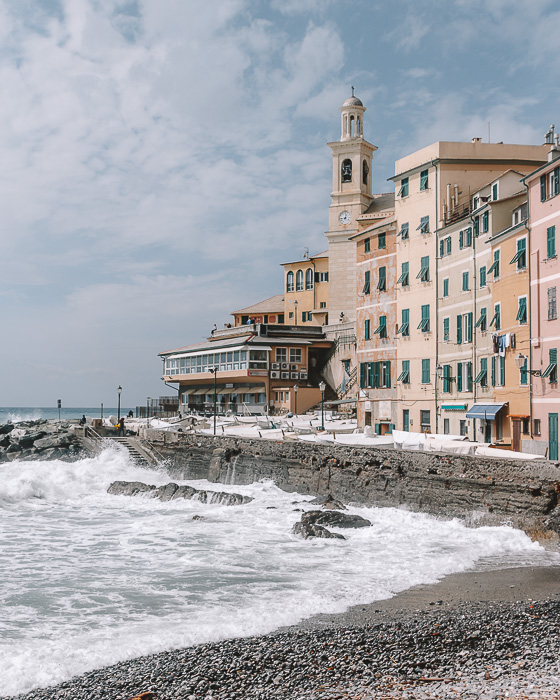 Boccadasse seafront, Genoa, Liguria and Cinque Terre travel guide by Dancing the Earth