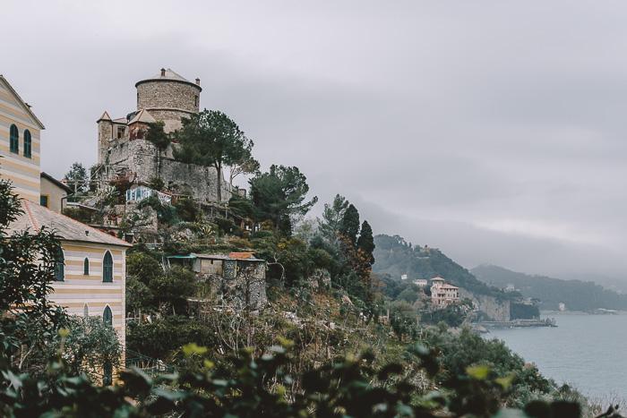 Castello Brown and church, Portofino