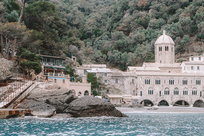 San Fruttuoso from the boat, Liguria and Cinque Terre travel guide by Dancing the Earth