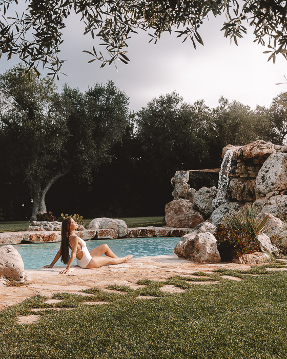 Sunbathing in Masseria le Lamie, Puglia travel guide by Dancing the Earth