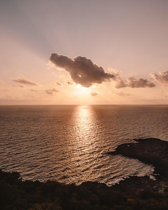 Sunset in Porto Selvaggio