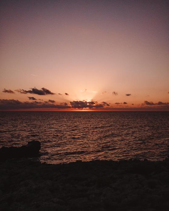 Sunset in Porto Selvaggio, Puglia travel guide by Dancing the Earth