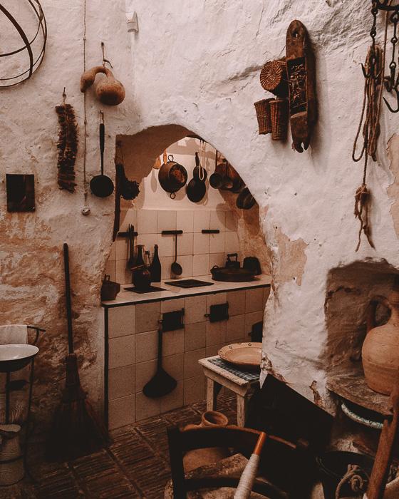 Casa grotta, kitchen area, Matera