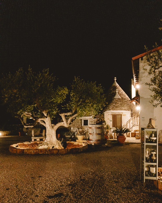 Trulli Caroli by night, Puglia travel guide by Dancing the Earth