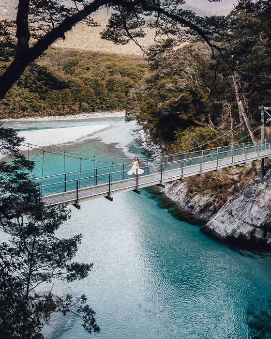 Blue Pools in Makarora, South Island, Dancing the Earth