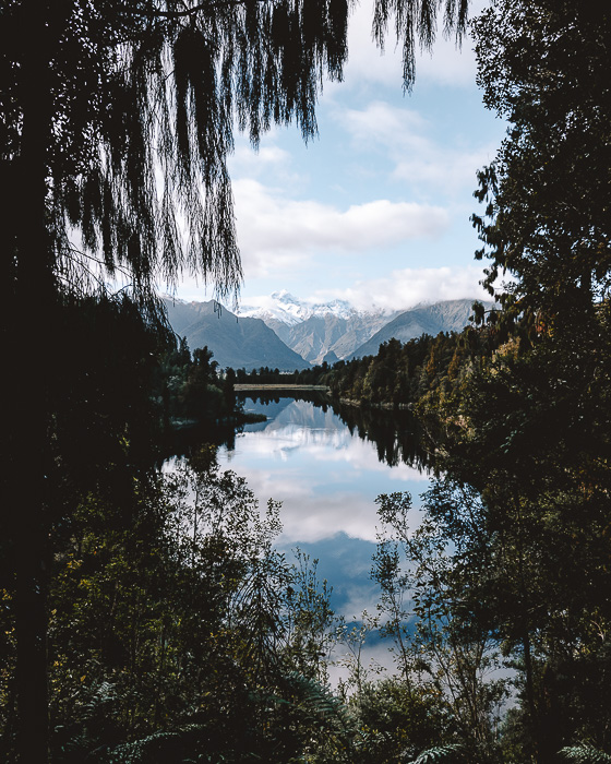 Reflection of Aoraki/Mt Cook in Lake Matheson, Dancing the Earth