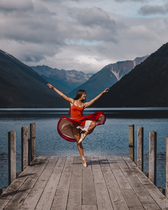 Lake Rotoiti jetty, South Island, Dancing the Earth