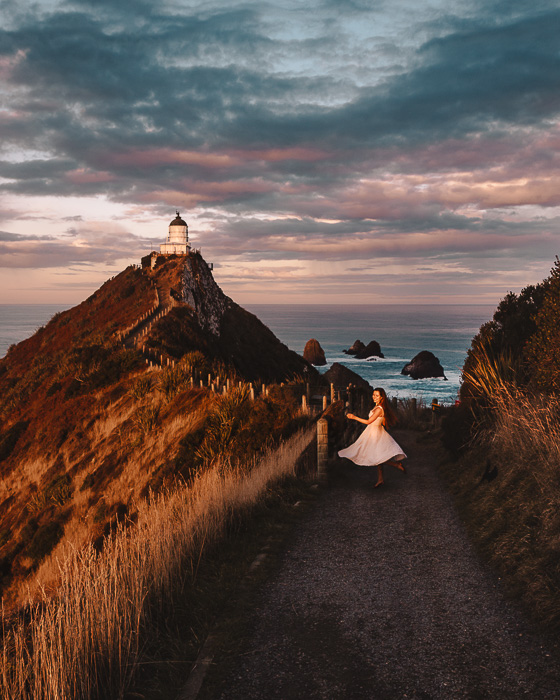 Nugget Point Lighthouse, Dancing the Earth