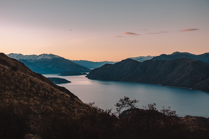 Sunset over lake Wanaka, Dancing the Earth